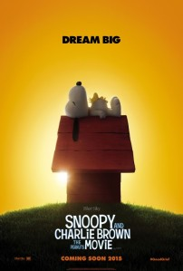 Snoopy and Charlie Brown The Peanuts Movie Poster